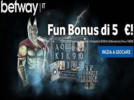 bonus e promozioni Betway casino