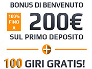 Bonus di Benvenuto di Netbet casino