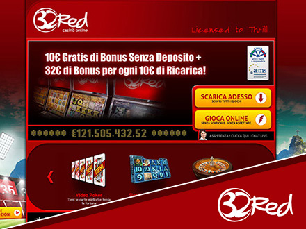 homepage del casino online 32Red