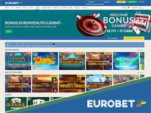 Bonus Eurobet casino 5€ a tutti i nuovi iscritti