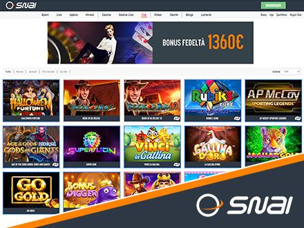 homepage del casino online SNAI