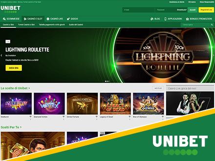 homepage del casino online Unibet