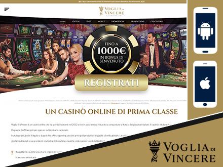 il casino online Voglia di Vincere su tablet e smartphones