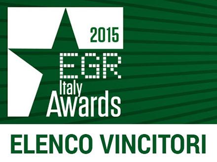 vincitori EGR Italy Awards 2015