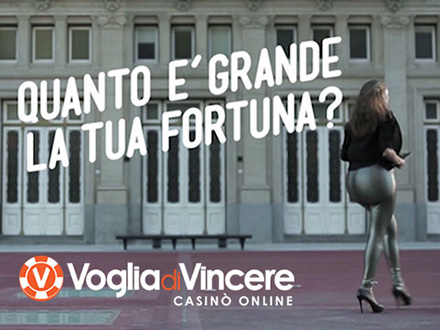 Il nuovo spot 2015 del casino online Voglia di Vincere