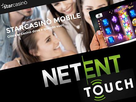 Starcasino mobile con NetEnt Touch
