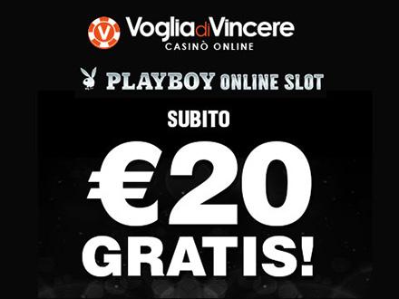 bonus senza deposito VogliaDiVincere: 20€ in free spin