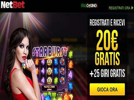 bonus benvenuto del casino NetBet