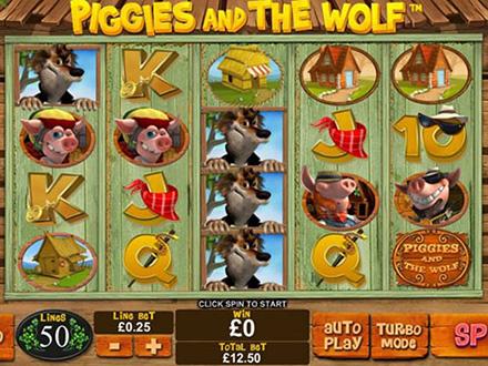 la slot machine piggies and the wolf