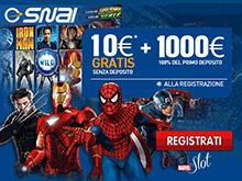 Bonus SNAI casino 10€ senza deposito
