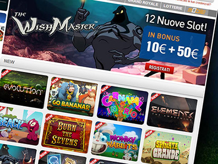 le 12 nuove slot machines nel casino SNAI Grand Royale