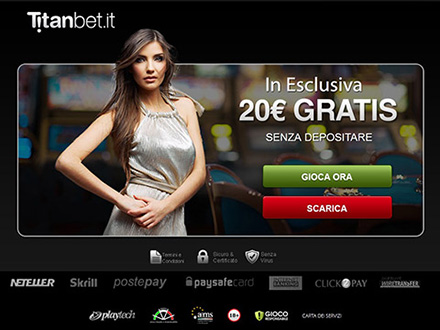 400% gratis fino a 1000€ su Titanbet