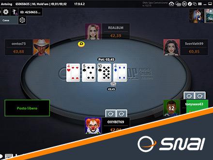 il poker su SNAI