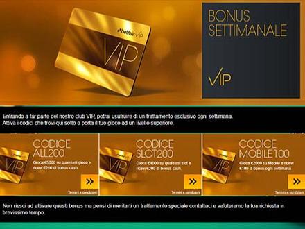 bonus VIP settimanale betfair