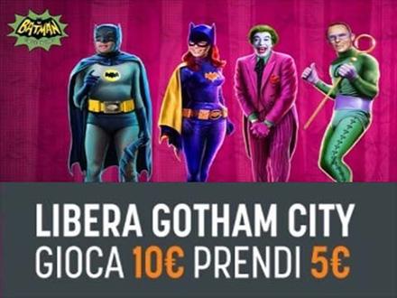 snai casino 5€ bonus per slot machine Batman
