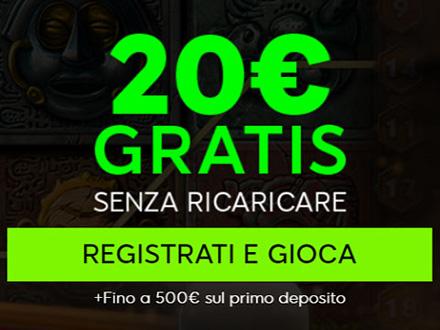 bonus e promozioni di 888casino: 20€ gratis
