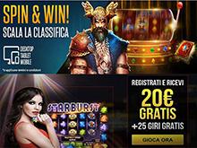 promozione Spin & Win di Netbet casino