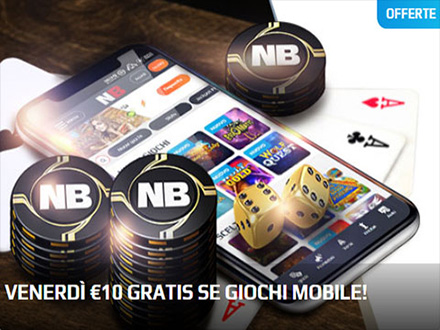 venerdi 10€ gratis se giochi da mobile su Netbet casino