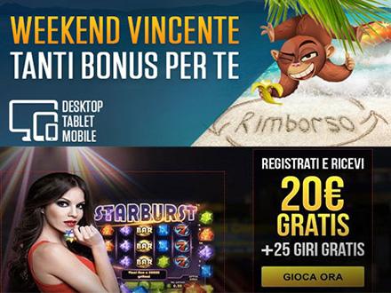 promozione Weekend Vincente di Netbet casino