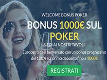 Bonus Eurobet poker