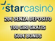 bonus starcasino 85 giri gratis + 1000€