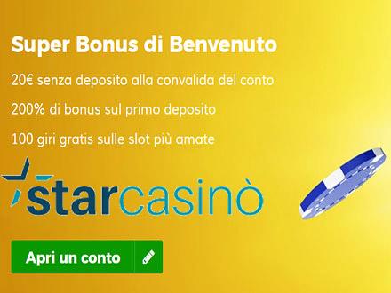 bonus del casino Starcasino