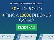 promozione Casino Legend di Eurobet