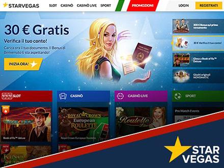 330€ bonus nel casino starvegas per Book of Ra