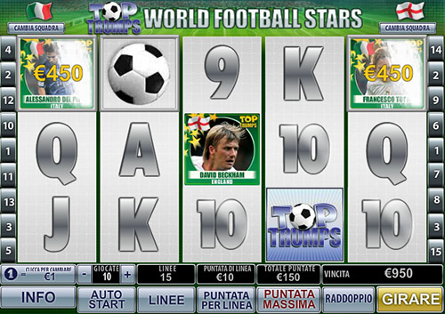 paytable della slot World Football Stars