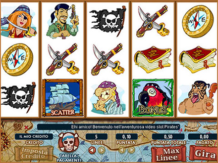 la slot machine Pirates' Millions