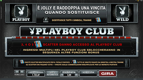 paytable slot Playboy