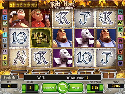 slot machine gratis robin hood