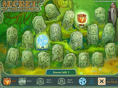 il gioco bonus della slot machine secret of the stones