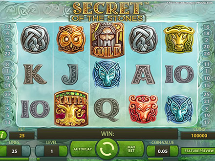 la slot machine Secret of the Stones