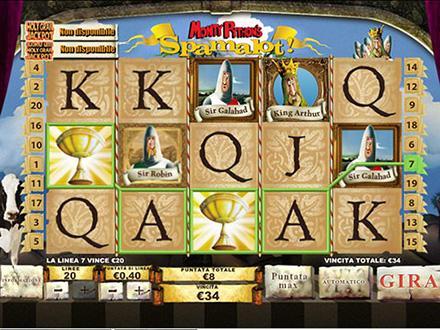 la slot machine Spamalot